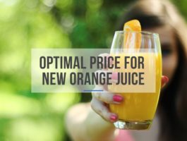 Innovation Consultancy Optimal Price for New Orange Juice